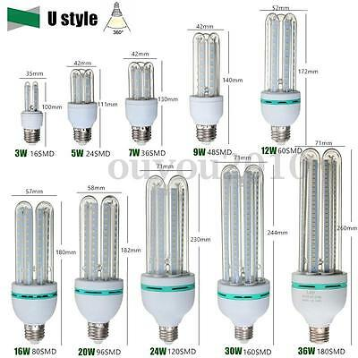 E27 LED Ultra Bright Energy Saving Warm White Light Bulb Lamp 3W-36W AC 85-265V