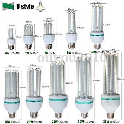 E27 LED Ultra Bright Energy Saving Warm White Light Bulb Lamp 3W-36W AC 85-265V