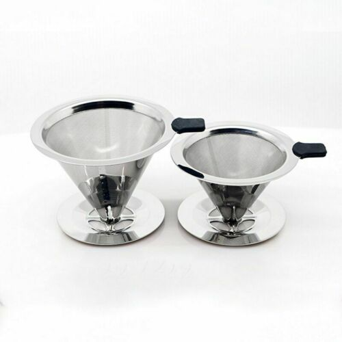 Reusable Mesh Coffee Dripper Stainless Steel Coffee Filter Funnel Holder Coffee