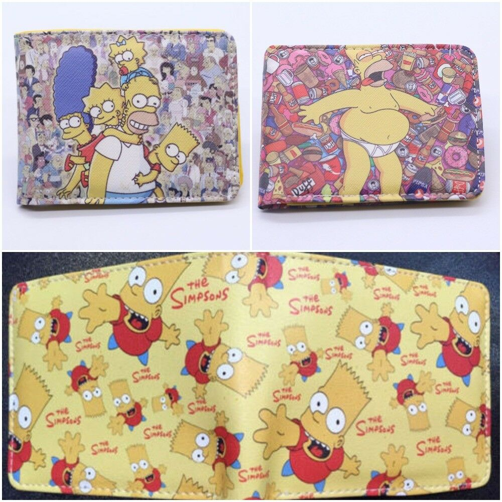 Multi Style The Simpsons Wallet Homer Bart New Free Tracking Mens Boys