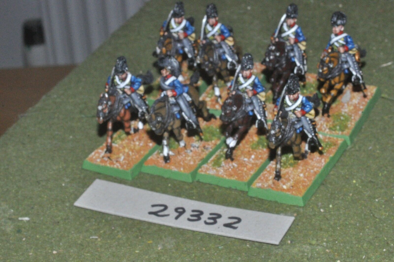 15mm, napoleoniskt   britiska - lätta drakeer 8 figurer - cav (29332)