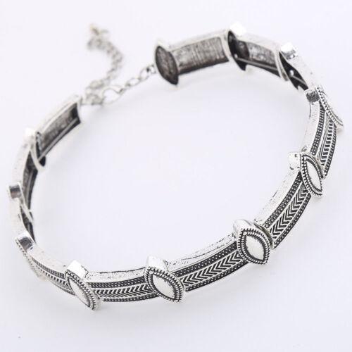 Boho Ancient Women Girls Silver Necklace Collar Chocker Chain Jewelry Gift