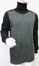 New 1,466 Dolce & Gabbana Mens charcoal Black Turtleneck Cashmere Sweater 54/44