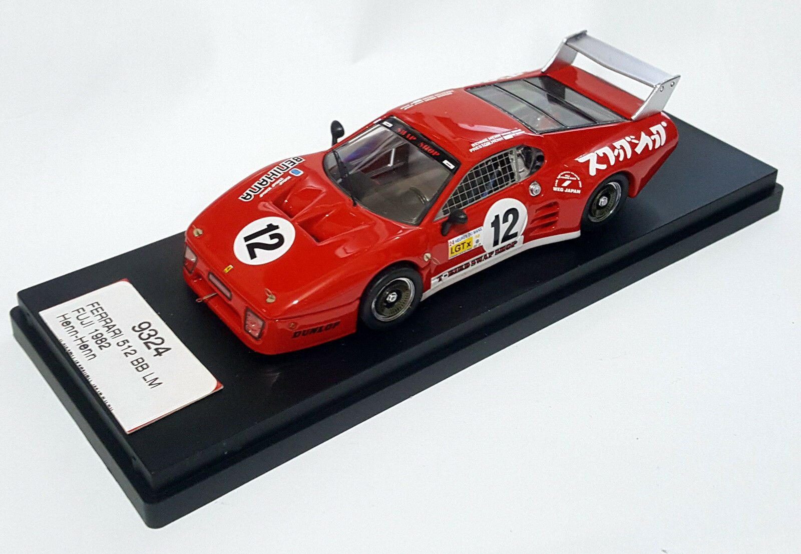 Ferrari 512 BB   12 Fuji 1982 1 43 Henn-Henn Best Model bt9324  wholesape pas cher