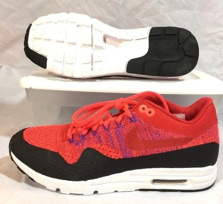 Nike Air Max 1 Ultra Flyknit Women 10 Lifestyle Red  160 C154