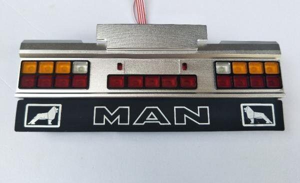 Conjunto de luz luz LED 21 señal cuadrada con parachoques trasero para Tamiya MAN 1 14  punto de venta en línea