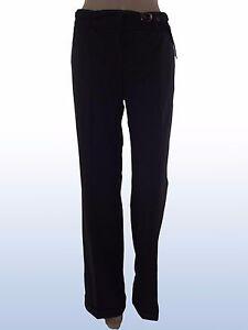 Pantalone-donna-nero-MAX-MARA-i-blues-tg-it-42-uk-10-de-36-w-28-bootcut