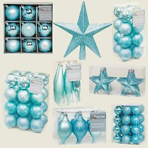 image is loading ice blue collection christmas decorations baubles stars cones