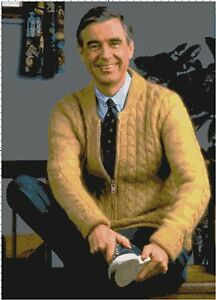 Handmade-Mr-Rogers-Fan-Art-DIGITAL-Counted-Cross-Stitch-Pattern-Needlepoint