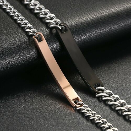 Stainless Steel Matching His Only Her One Promise Couple Bracelet Set Gift 2pcs