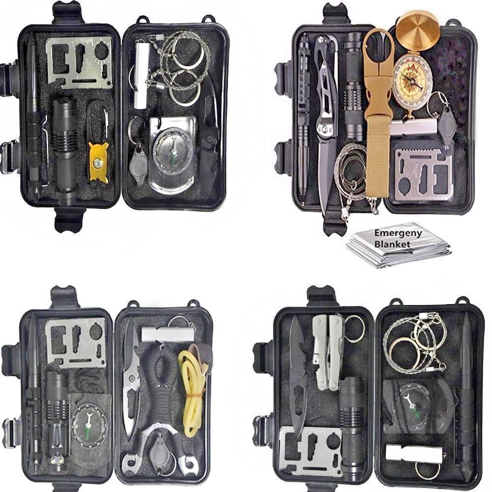 10 In 1 Survival Kit EDC Camping Equipment Multifunction First Aid SOS Emergency