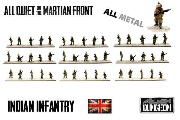 BF017-INDIAN INFANTRY - ALL QUIET ON THE MARTIAN FRONT- ALIEN DUNGEON-
