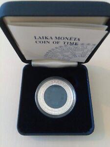 RARE-TIME-I-first-NIOBUIM-silver-coin-of-LATVIA-1-Lats-2004-BOX-COA-Lettland