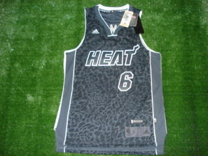 online retailer b55a2 57b9d Details about NEW Adidas Miami Heat Lebron James Tech Shift LIMITED EDITION  CHAMPS Jersey RARE