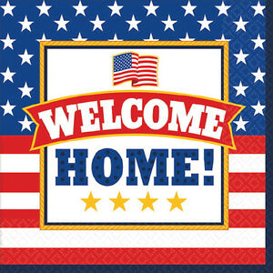 Welcome Home American Pride Small Napkins 36 Birthday