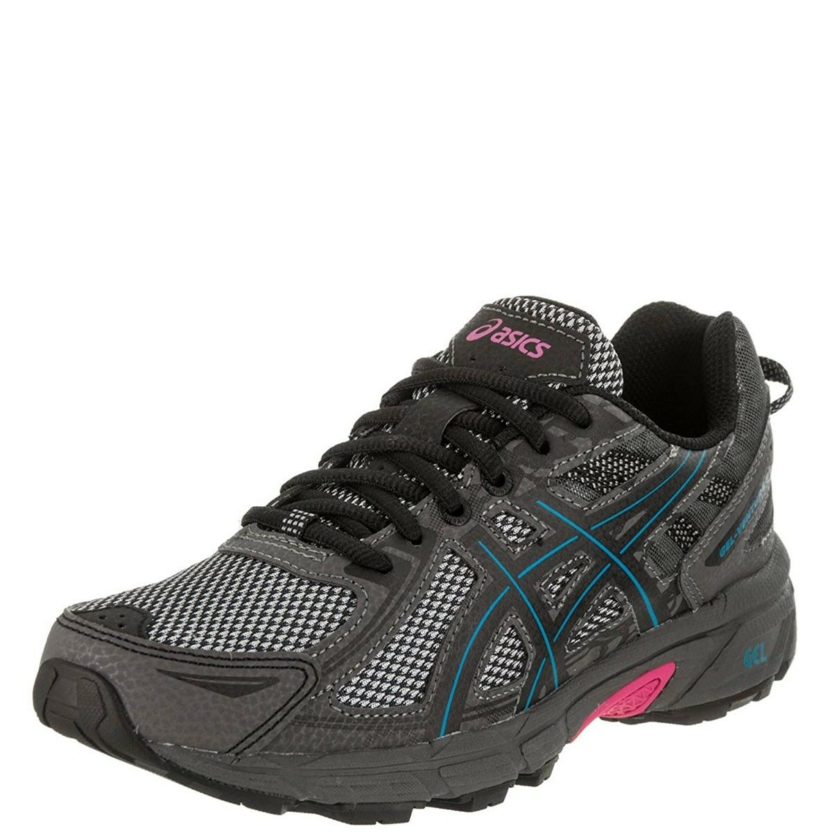 Asics Women's Gel-Venture 6 Running Shoes Black/Island Blue/Pink