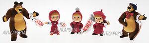 Action Figurines Masha & Ours Caractères Plastique Originaux 5 Variantes MatéRiaux De Haute Qualité