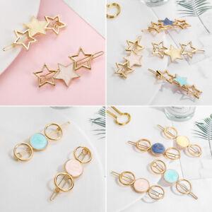 Fashion-Girls-Round-Star-Alloy-Hair-Clip-Ornament-Barrette-Hair-Accessories