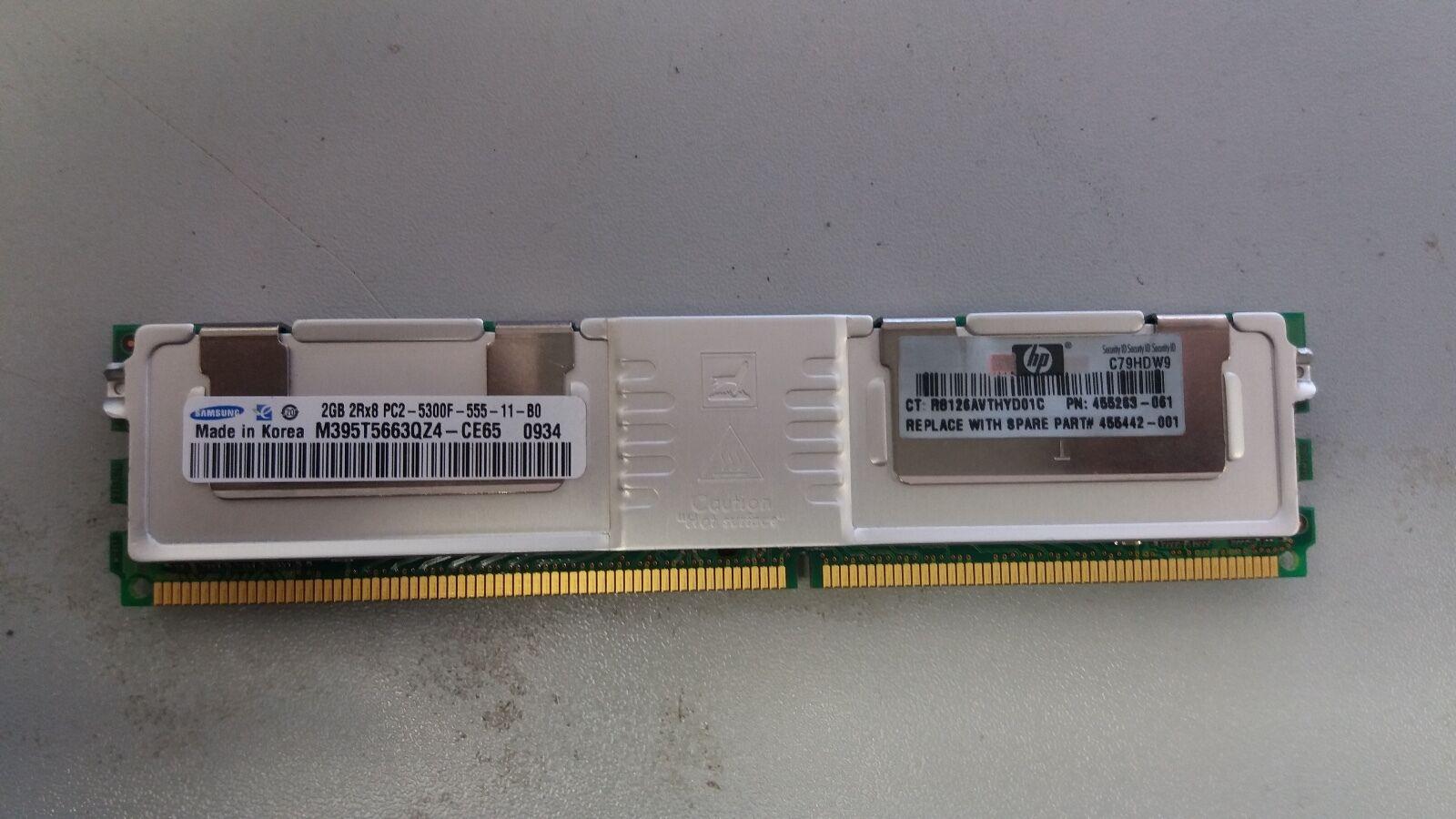 Samsung M395T5663QZ4-CE68 2GB PC2-5300F DDR2-667 2RX8 ECC Server RAM Memory