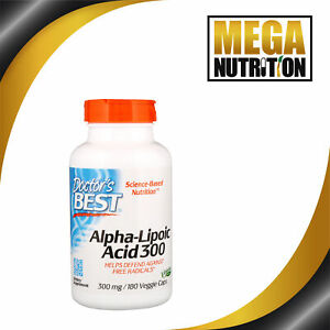 Doctor-039-s-Best-Alpha-Lipoic-Acid-300mg-180-Veggie-caps-Metabolism-Antioxidants