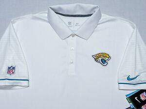 Nike Jacksonville Jaguars NFL Dri-Fit Polo Shirt White XXL 2XL ~ New