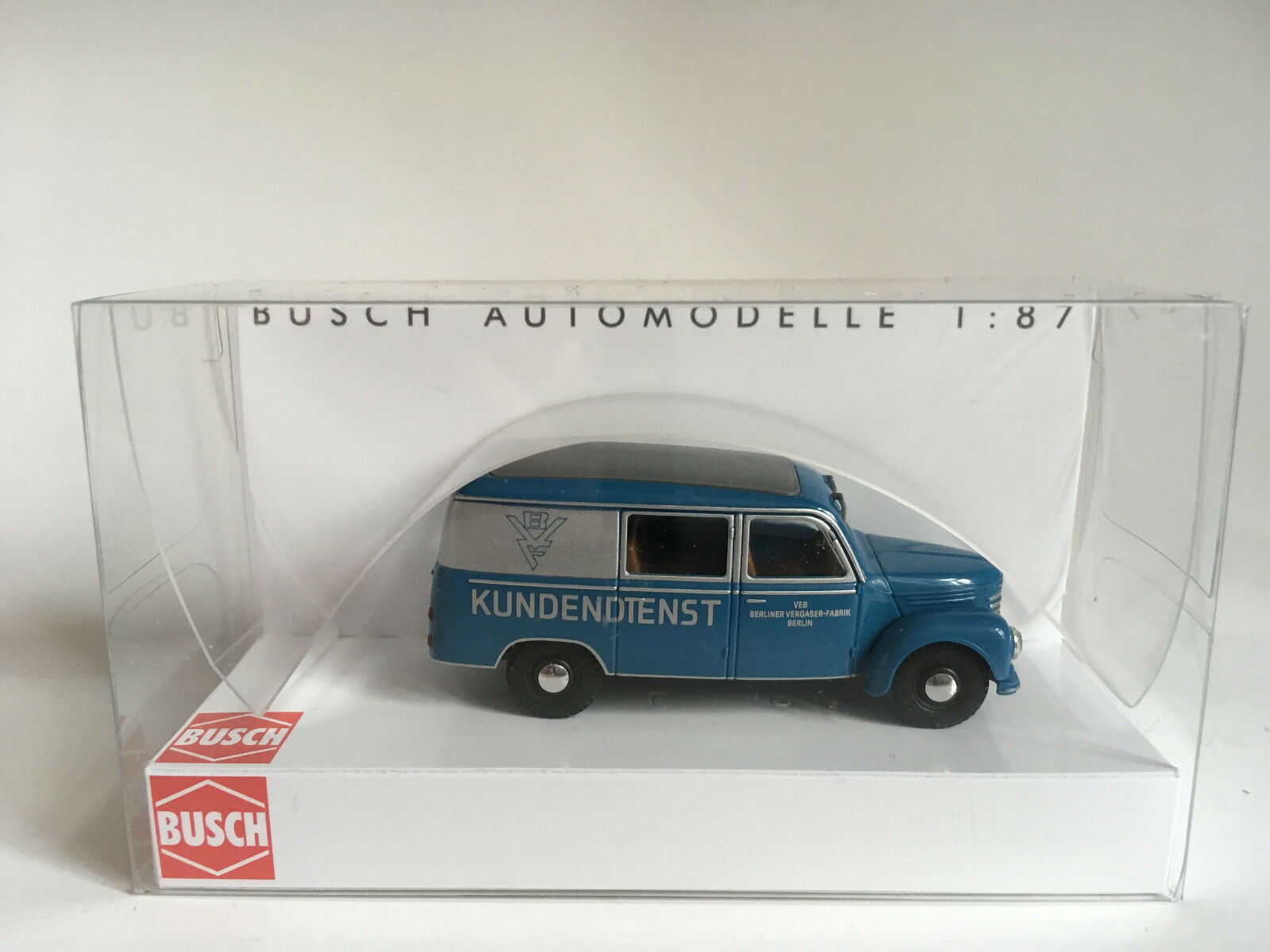 Busch 51292 Barkas Van, Van, Van, Bvr Berlin Carburettor Fabr Model 1 87 (H0) 7fa153