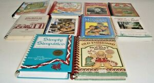 Lot of 10 Vintage Spiral Bound Cookbooks Five ingredient Seafood Farmers Market