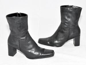 Target Black Genuine Leather Long Ankle