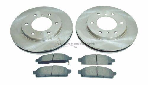 marca Tamaño Frente 2 Discos De Freno /& Almohadillas Para Mitsubishi L200 2.5 TD Diesel 01-06