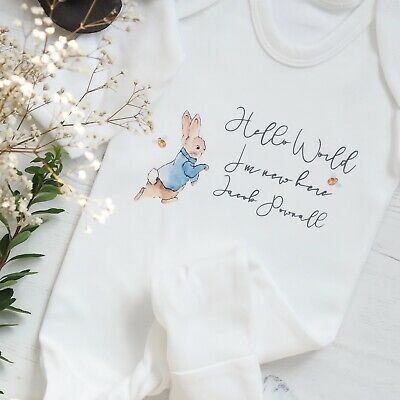 Boys Peter Rabbit Personalised Toddler Polo Shirts