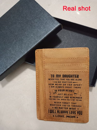 RFID Front Pocket Minimalist Slim Wallet Xmas Gift for Son Daughter from Mom Dad