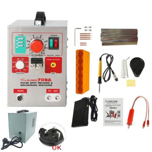 SUNKKO 709A Battery Pulse Spot Welder 18650 Soldering Welding Machine 110V 220V