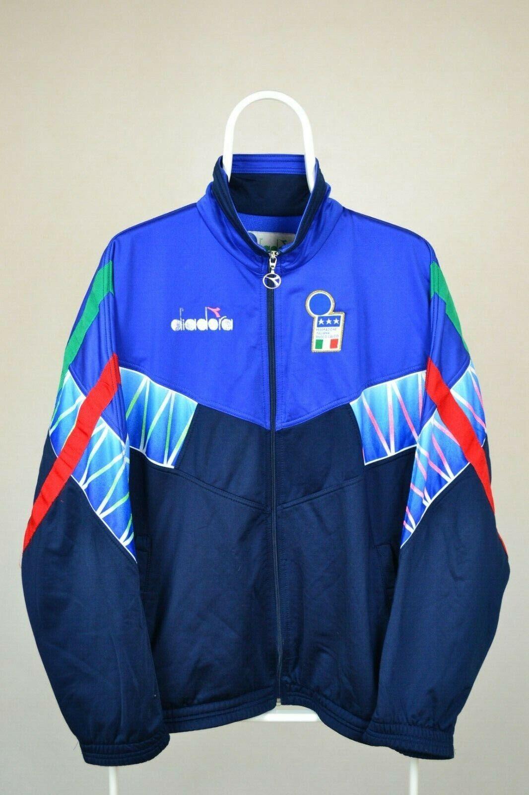 Italia Italia Diadora Vintage Fútbol Track de Superdry Chaqueta Traje Italia 90 era Baggio