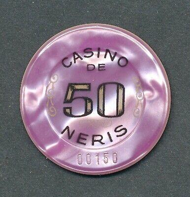 Casino De Neris 50 Frs Roulette-jeton Néris Les Bains,auvergne/france Extrem Effizient In Der WäRmeerhaltung