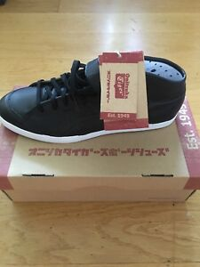wholesale dealer b58f2 ffd5e Details about Onitsuka Tiger Black High Top trainers with Velcro Size EU 45