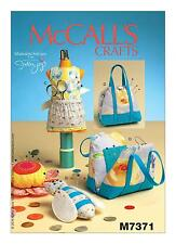 McCalls SEWING PATTERN M7371 Novelty Pincushions-Bee,Flower,Dressform,Bag Design
