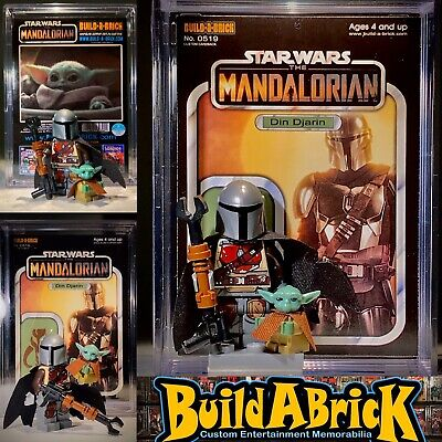 Star Wars Mandalorian W// Baby Yoda Mini Action Figure w Vintage Display Case