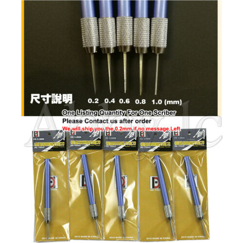 One of 0.2~ 1 mm Modeling Tools  Accessory Scriber Craft Tool Scribe Line Chisel