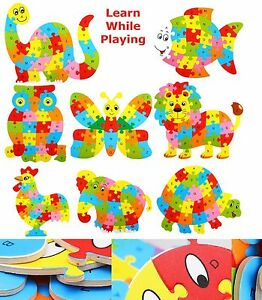 Wooden-ABC-Alphabet-Jigsaw-Animal-Puzzle-kids-Children-Educational-Learning-Toy