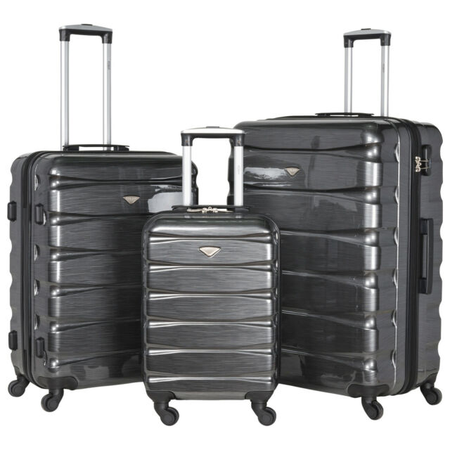 7ec2f434ccb0 4 Wheel Hard Shell Cabin Suitcase Hand Luggage Bags & Sets Lightweight  Ryanair