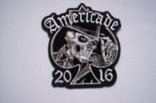 De usa bike week patch americade 2016 skull with a cc 8x8 CM