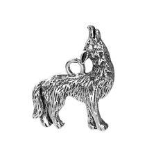 2 Tibetan Silver  Wolf Pendant Charms