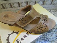 Earth Origins Trixie Sandals Womens 9.5 Brown Leather Slides Free Ship