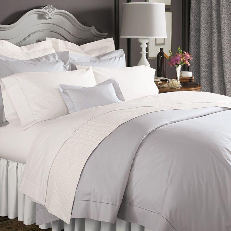 Bettwäsche Liefern Sferra 3990 Celeste King Bettbezug Bettwaren, -wäsche & Matratzen weiß