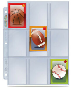 ULTRA-PRO-Collectible-Trading-Mini-Card-9-Pocket-Page-Plastic-Sleeve-x10-NEW