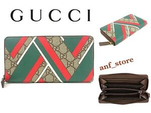 b84ababfd97f25 Image is loading NEW-GUCCI-GG-Supreme-Canvas-Continental-Long-WALLET-