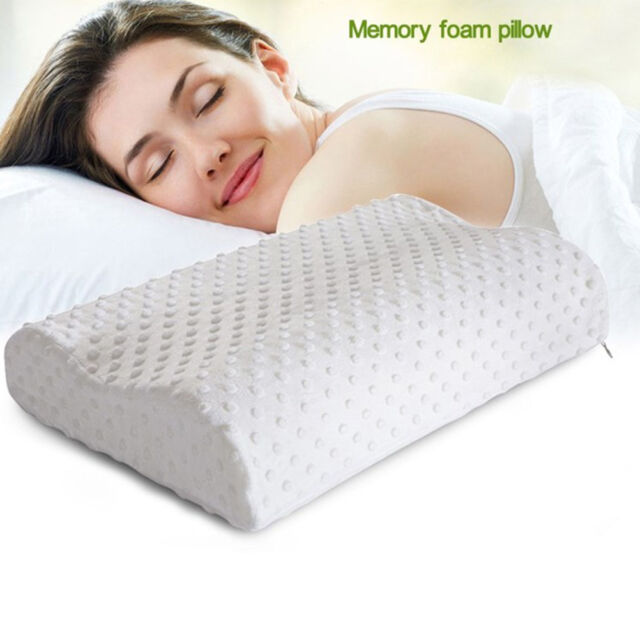 Cervical Contour Memory Foam Bed Pillow Ergonomic Orthopedic Design RS