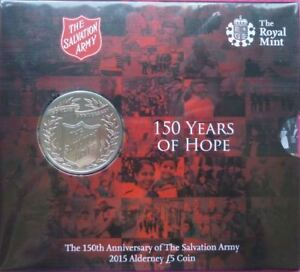 2015-SALVATION-ARMY-150-Years-of-Hope-Five-Pound-Coin-on-Card