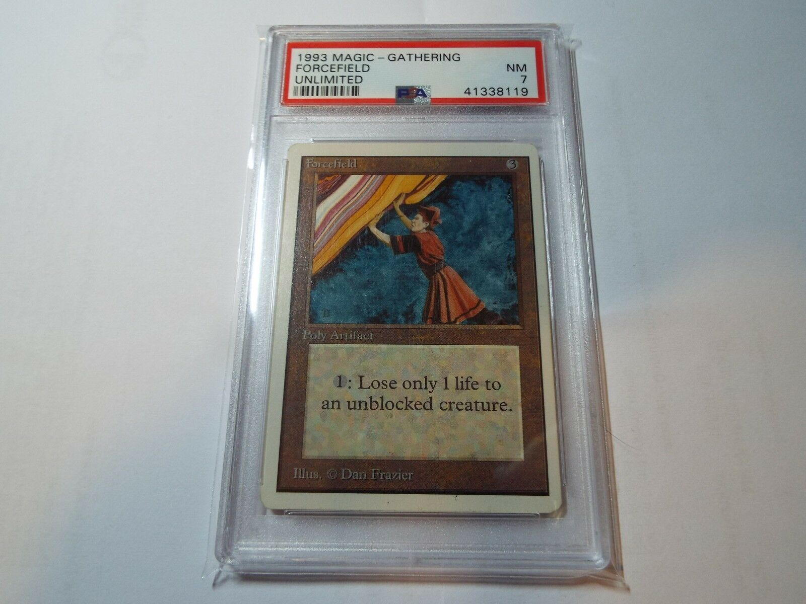 MAGIC THE GATHERING UNLIMITED FORCEFIELD PSA GRADED NM