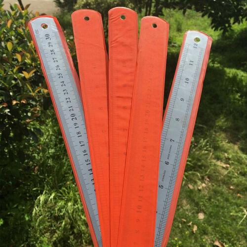 Stahl Edelstahl Taschen Tasche Metrische Metall Lineal Messung T4I9 Doppels F0V4
